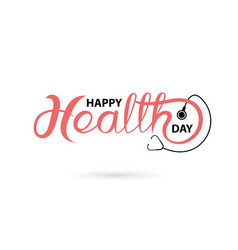 happy health day typographical design elements vector image