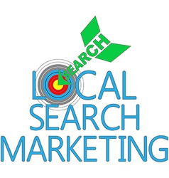 Local Search Marketing Target SEO vector image