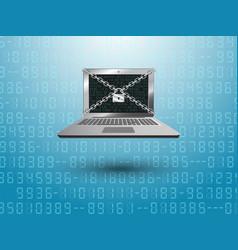 lock security computer vector image