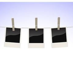 Photos on clothesline vector image