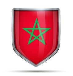 Shield with flag morocco vector