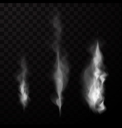 smoke isolated set vector image