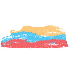 abstract flag sketch of colombia vector image