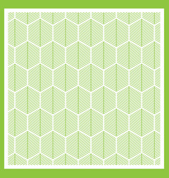 abstract green lines on white background vector image