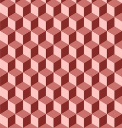 Abstract isometric red cube pattern background vector