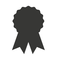 Award seal medal silhouette icon vector