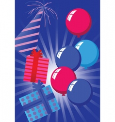 birthday poster vector image