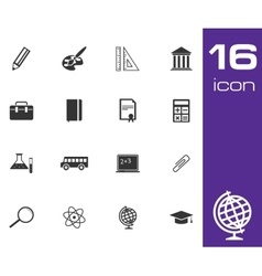 black education icon set on white background vector image
