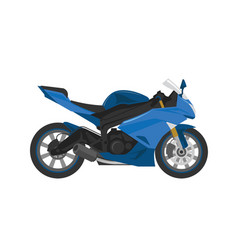 Blue sport race motorbike in vector