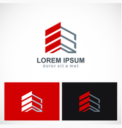 Building shape construction company logo vector