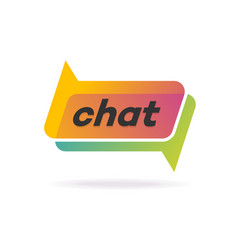 chat logo gradient style isolated on background vector image