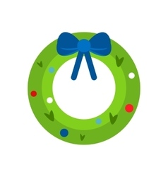 Christmas branch mistletoe vector