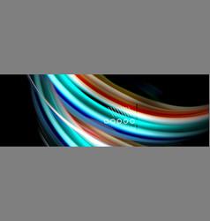 color flow poster wave liquid shape color vector image