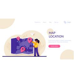 concept choosing trip destination vector image