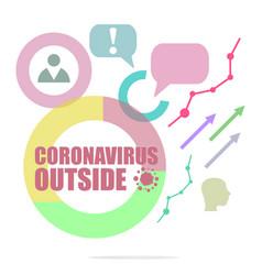 Covid-19 coronavirus outside pandemic vector