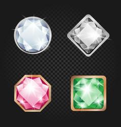 diamonds and jewels dark background vector image