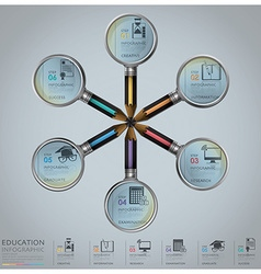 Education And Graduation Infographic With vector image