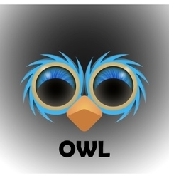 Eyes of a owl in the darkness vector image
