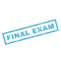 Final exam rubber stamp vector