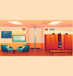 fire station empty interior firefighters workplace vector image