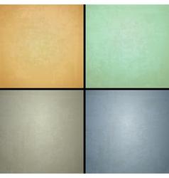 four vintage backgrounds vector image