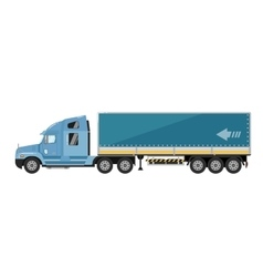 Freight truck isolated on white background vector