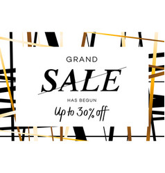 grand sale banner flyer or poster vector image