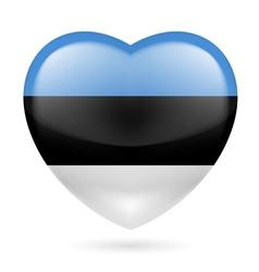 Heart icon of Estonia vector