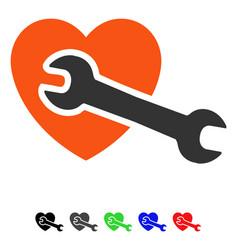 Heart surgery flat icon vector