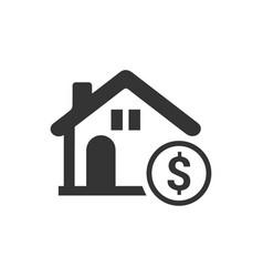 Home loan icon vector