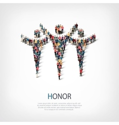 honor people sign 3d vector image