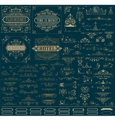kit vintage resources for invitations banners vector image