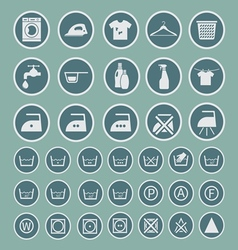 Laundry and washing icon vector