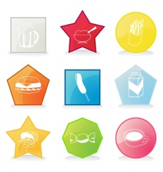 Meal buttons vector