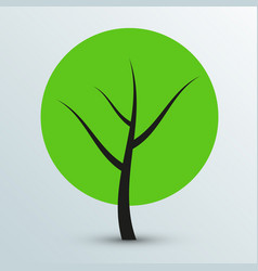 Modern flat green tree icon vector
