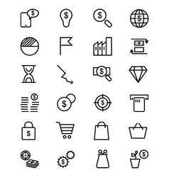 Money Line Icons 2 vector