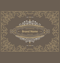 monogram creative cards vector image