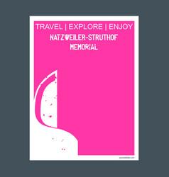 natzweiler-struthof memorial nazi germany vector image
