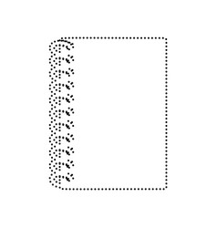 notebook simple sign black dotted icon on vector image