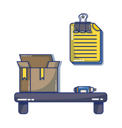 Office element icon to company strategy vector