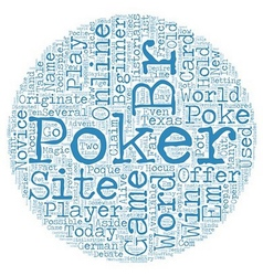 Online poker site 1 text background wordcloud vector