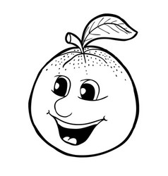 Orange with smile vector
