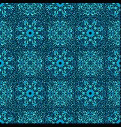 Oriental blue mosaic petal pattern background art vector