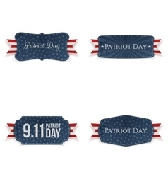 Patriot Day paper Badges Collection vector