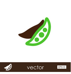 Pea outline icon vegetable vector