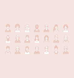 people avatars modern business corporate faces vector image