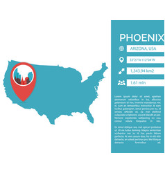 Phoenix map infographic vector
