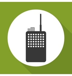 Police radio design vector