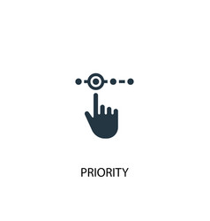 Priority icon simple element vector