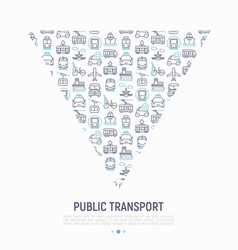 public transport concept in triangle vector image